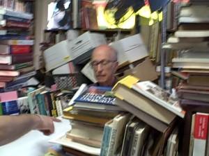 Eli Wallowing in Books. Photo by Paul Hunt
