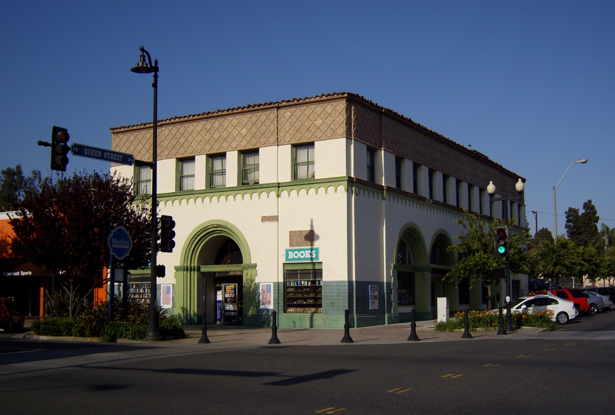 The Beautiful old Vajra Bookshop in Inglewood