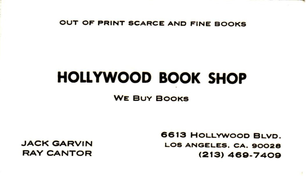 Hollywood Book Shop bus cd