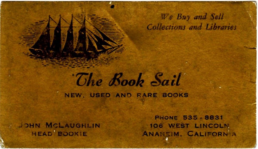 Book Sail card